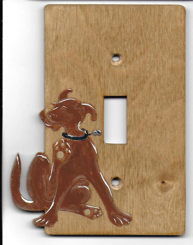 Dog single switchplate cover