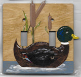 Duck double switch plate cover