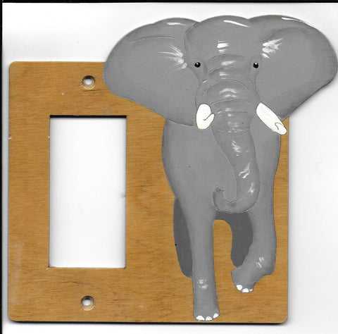 Elephant rocker switch plate cover