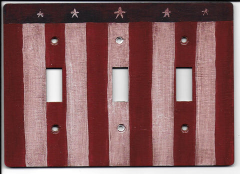 Primitive Flag 3 Switch plate cover