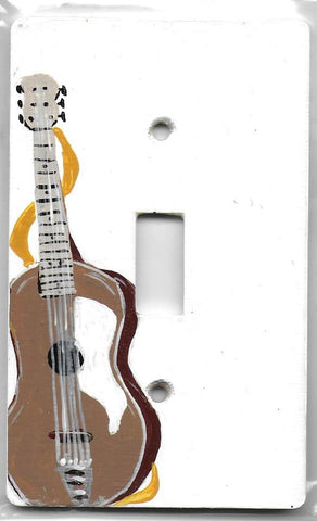 Music Guitar single painted background