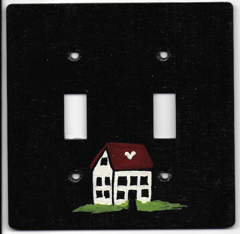 Primitive House double switch plate