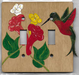 Hummingbird double switchplate cover