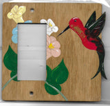 Hummingbird rocker left switch plate cover