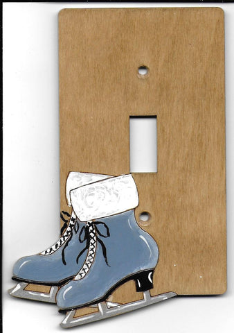 Ice Skates single switch plate cover