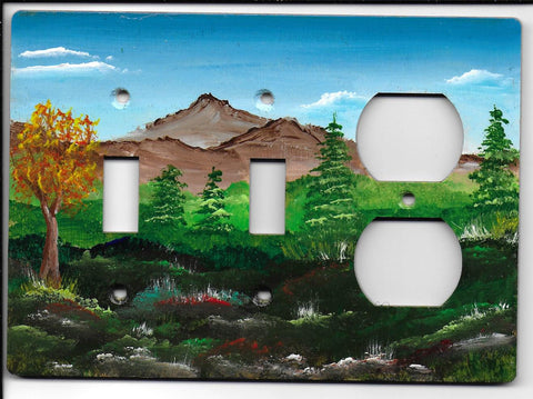 Landscape scene double Switch Plug right