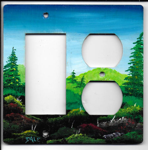 Landscape scene Rocker left Plug right