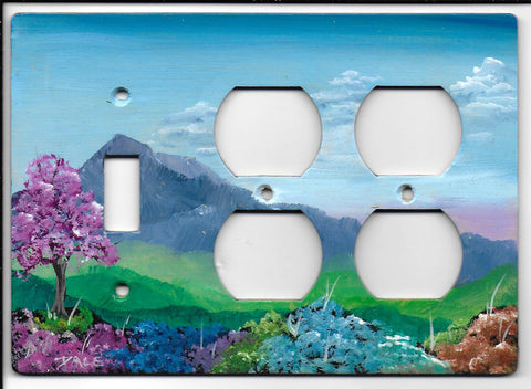 Landscape scene Switch double Plug right