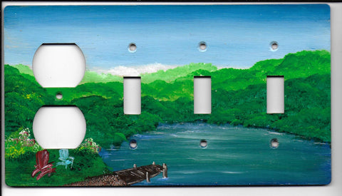 Landscape scene three Switch Plug left