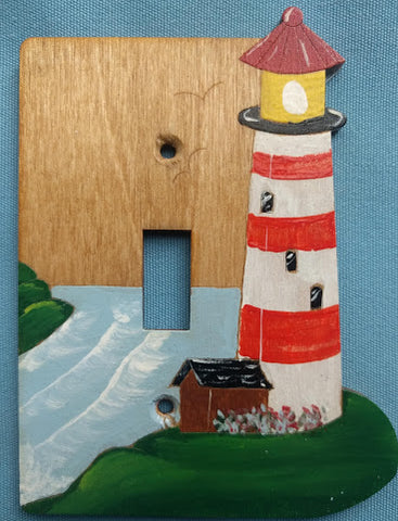 Light house single switch plate cover