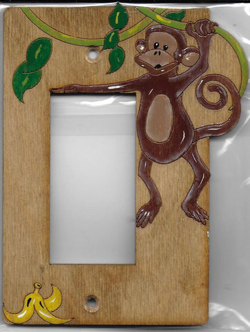Monkey Single Rocker switch plate cover