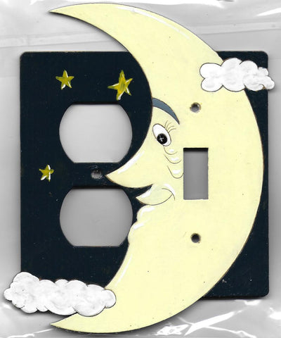Moon and Stars, Switch and Plug left switch plated cover