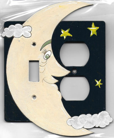 Moon and Stars Switch Plug right full painted