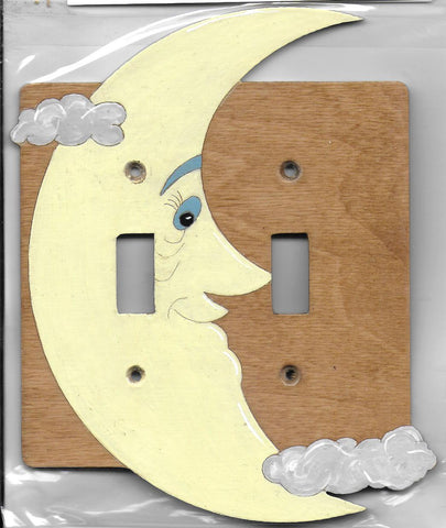 Moon Double Switch plate cover