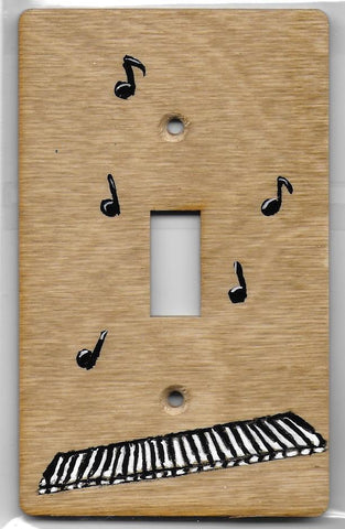 Music Notes and Key Board single switch plate