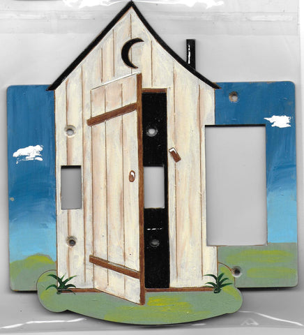 Outhouse 2 switch, rocker/gfci  right full painted