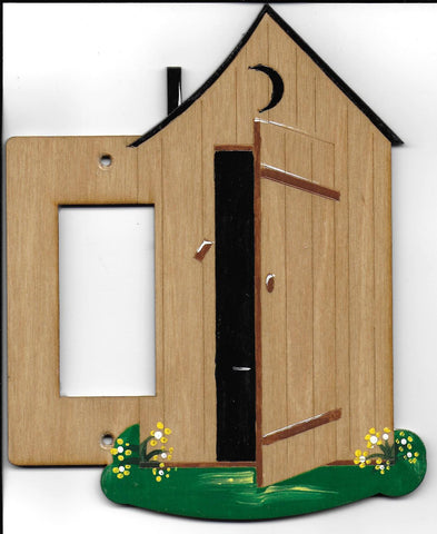 Outhouse Rocker Left switch plate cover