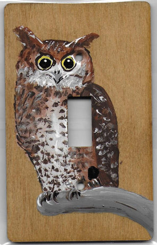 Owl single switch plate