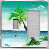 Palm Scene switch & rocker gfci right plate cover