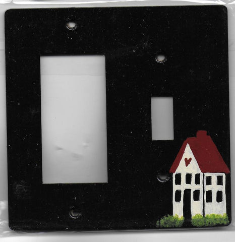 Primitive House switch plate switch and rocker Left switch plate cover