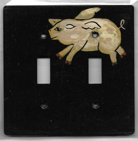 Primitive Pig Double Switch plate