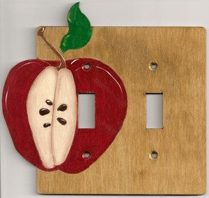 Apple double switch plate cover