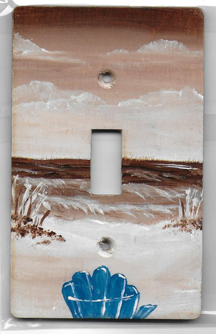Sepia Brown  Beach Scene Single Switch