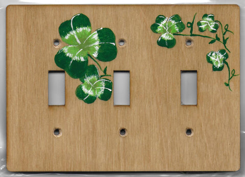 Shamrock triple switch plate cover
