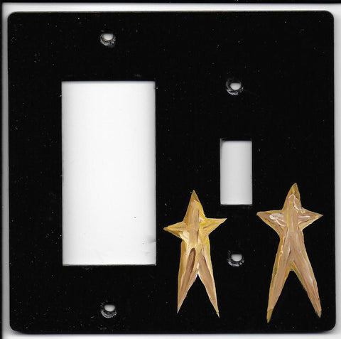 Primitive Stars switch plate switch and rocker Left switch plate cover