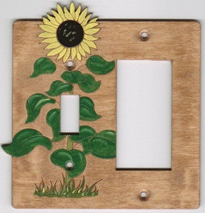 Sunflower rocker left switch plate cover