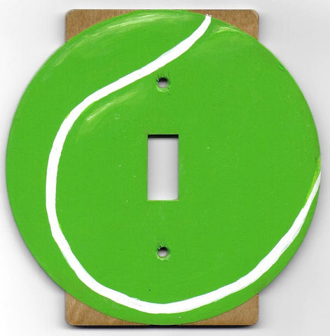 Tennis Ball single switch plate