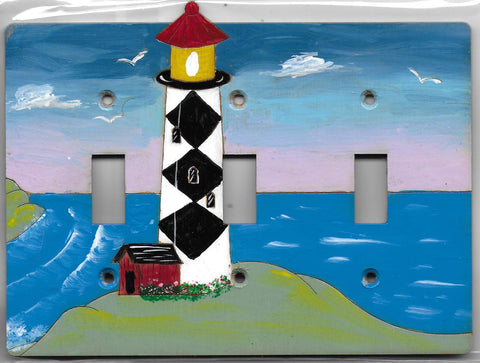 Light house 3 switch full painted