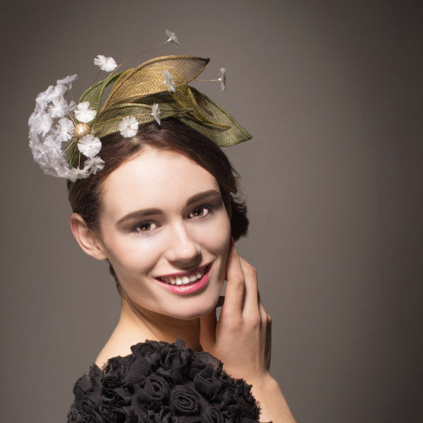 Unique dandelion hat or fascinator for Royal Ascot or wedding