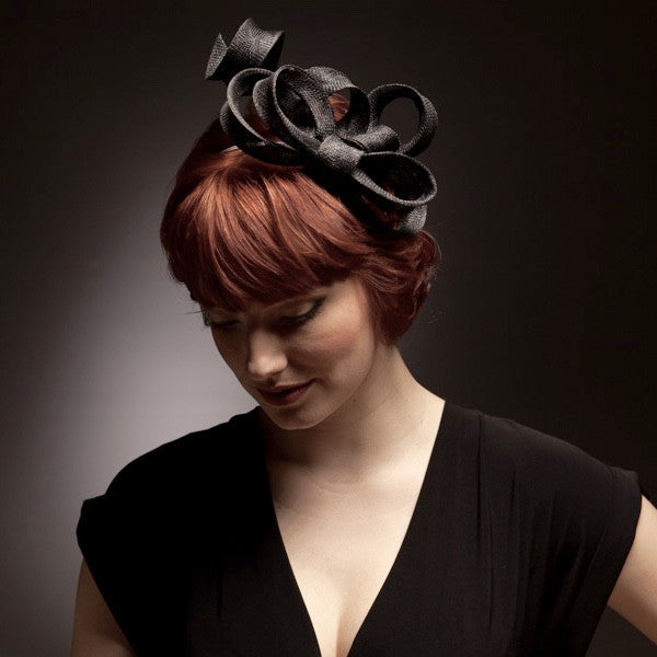 Fun Black bow fascinator