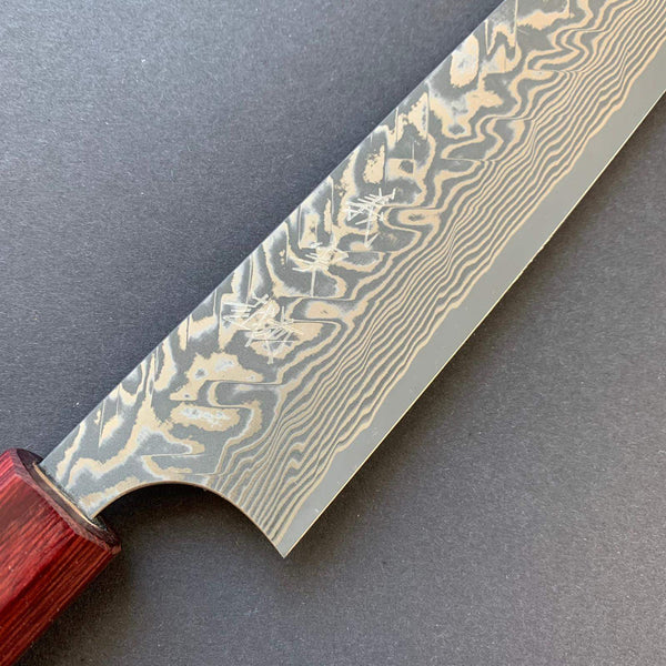 Sujihiki knife, SG2 powder steel, damascus finish - Kato
