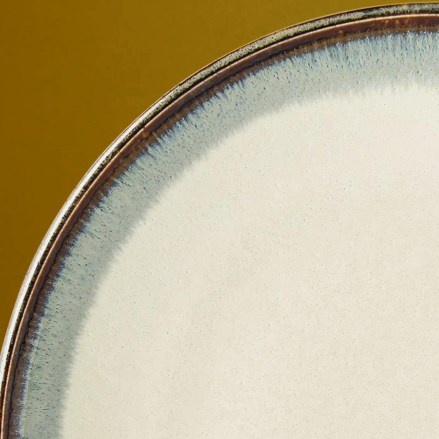 Japanese ceramics - blue iris dinner plate
