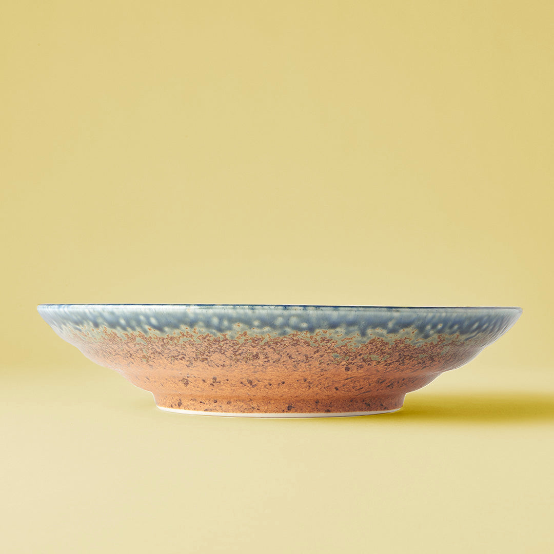 Japanese ceramics - earth & sky serving dish