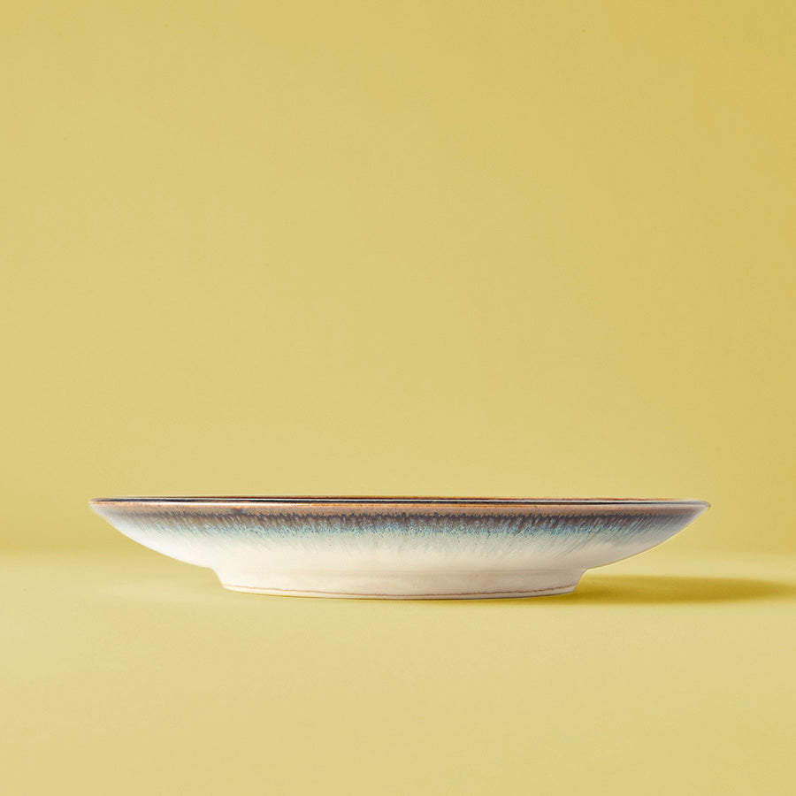 Japanese ceramics - blue iris side plate