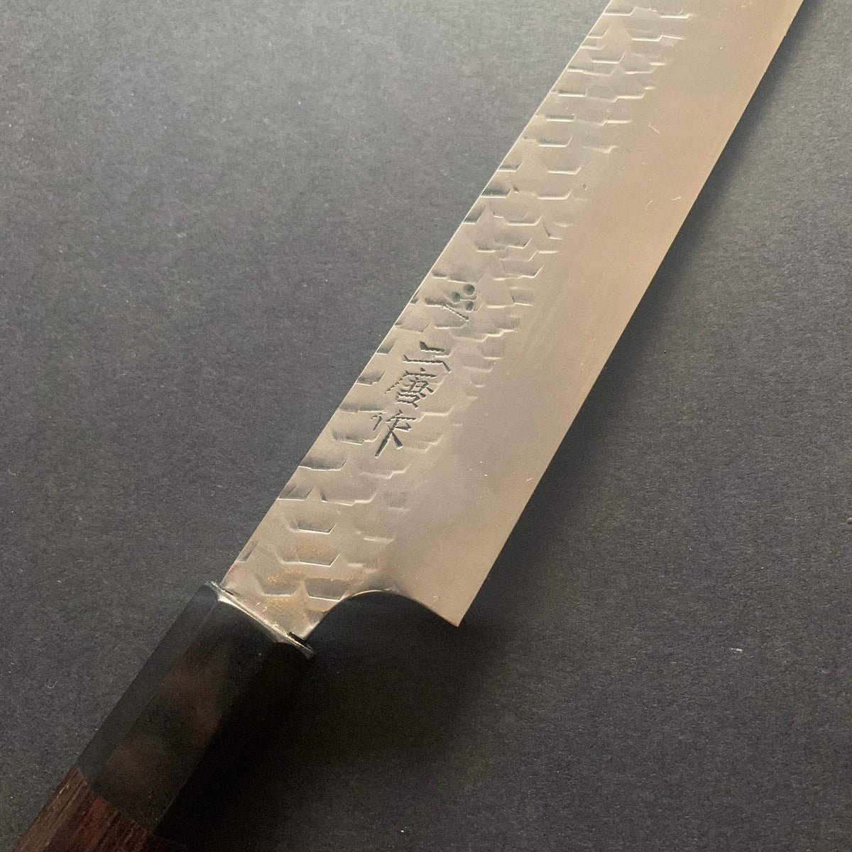 Sujihiki knife, stamped SG2 powder steel, tsuchime finish - Nigara