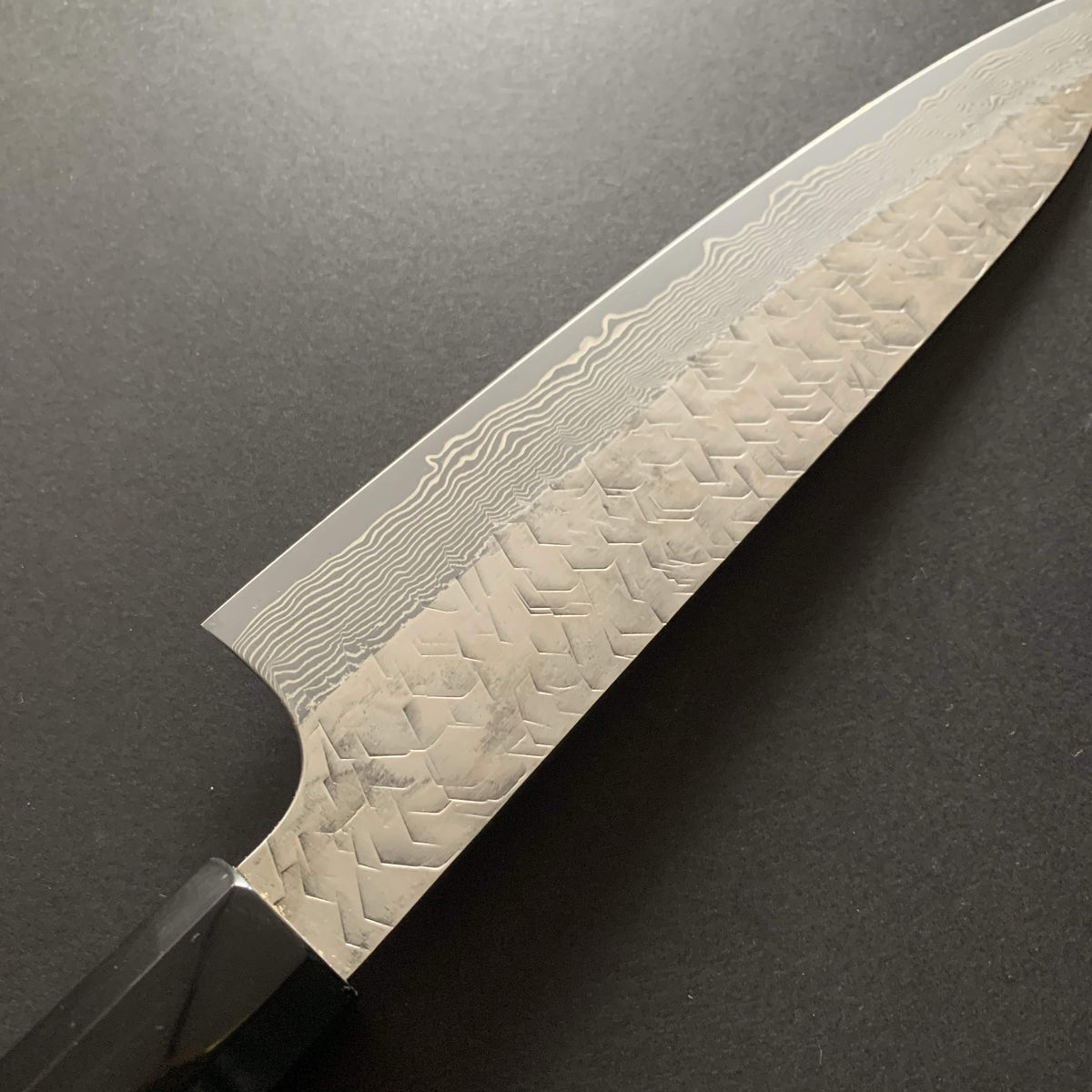 Gyuto knife, SG2 powder steel, tsuchime and damascus finish - Nigara