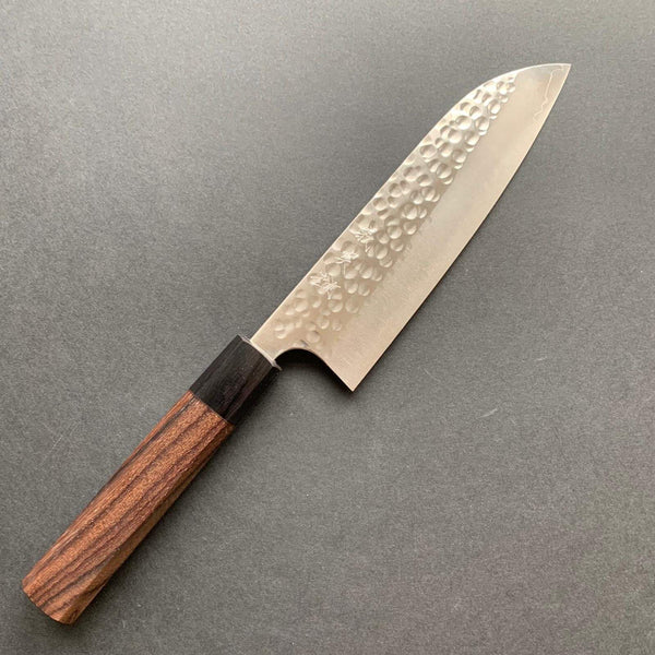 Santoku Knife, SG2 Powder Steel, Tsuchime finish - Kato