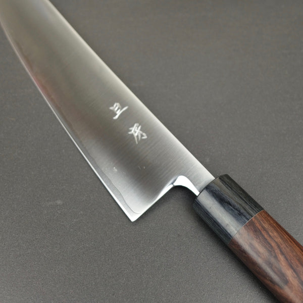 Gyuto knife, SRS15 powder steel, migaki finish - Akifusa *