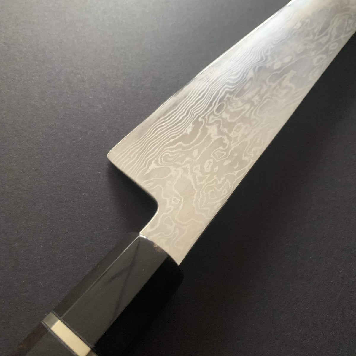 Gyuto knife, ATS34 powder steel, damascus finish - Tsukasa Hinoura