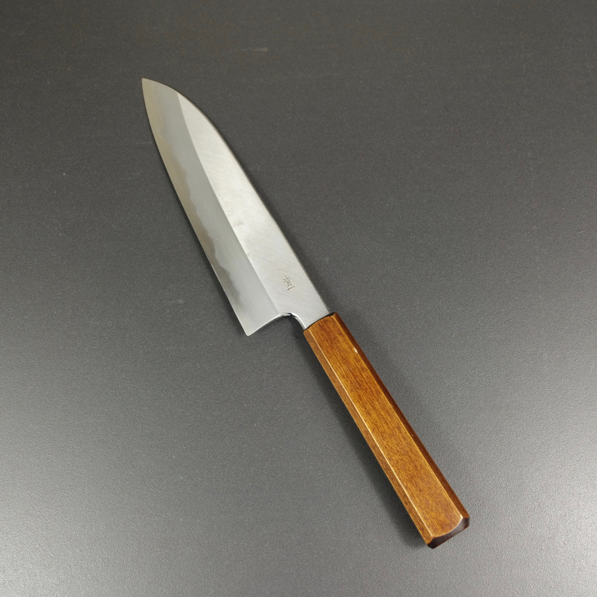 Santoku knife, Aogami 1 carbon steel, traditional kasumi finish - Kagekiyo