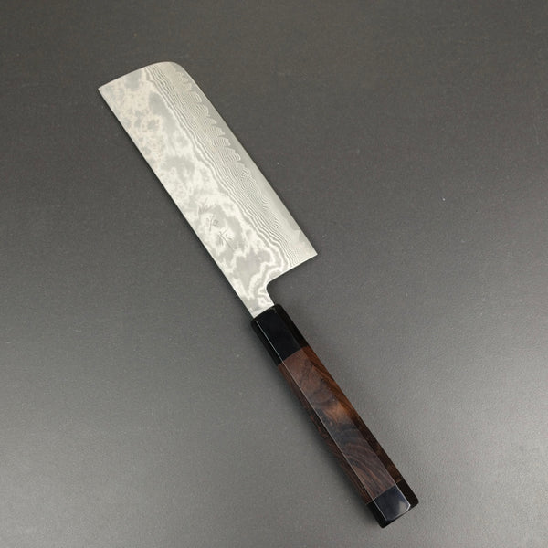 Nakiri knife, VG10 stainless steel, damascus finish - Saji