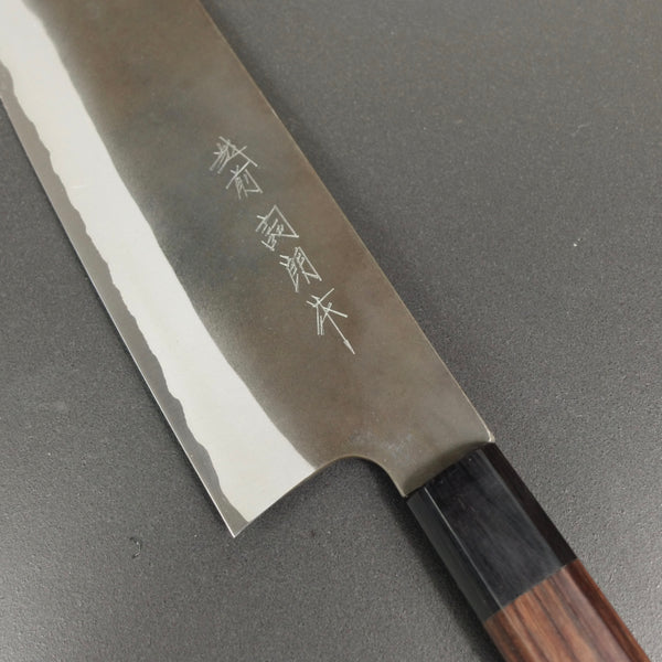 Nakiri knife, Aogami Super carbon steel, kurouchi finish - Kamo