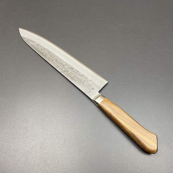 Gyuto knife, 240m, Aogami 2 core with stainless steel cladding, nashiji finish - Tadafusa