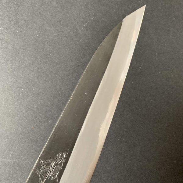 Petty knife, Shirogami 2 with forge welded cladding, Kurouchi finish - Tsukasa Hinoura