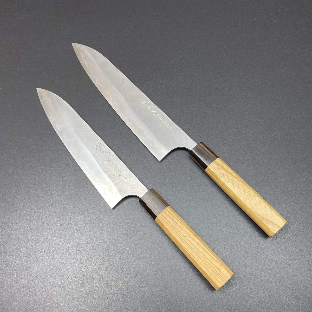 Gyuto knife, Ginsan stainless steel, nashiji finish - Kanehiro