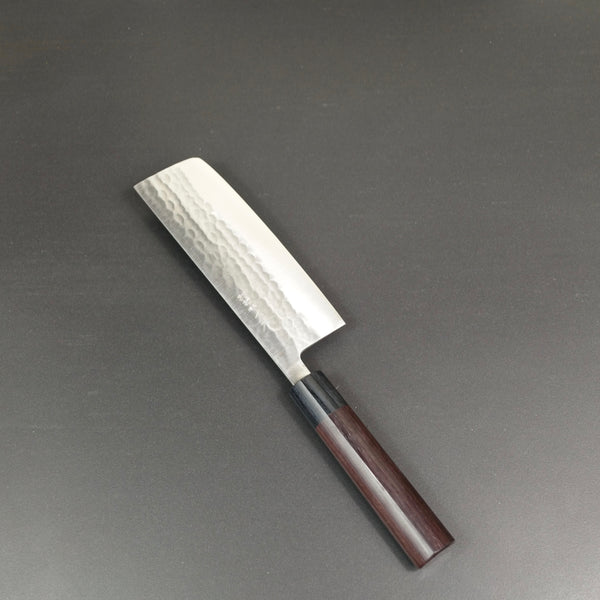 Nakiri knife, SLD semi-stainless steel, tsuchime finish - Ohishi